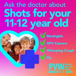 Preteen Vaccine Week, Mar 1-7 2020